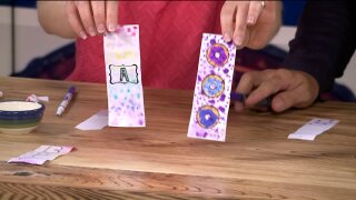 Make watercolor bookmarks for your summer reading