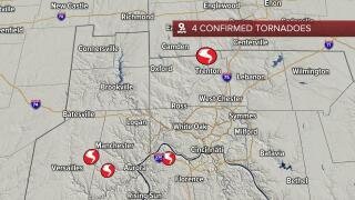 4 confirmed tornadoes June 18, 2021