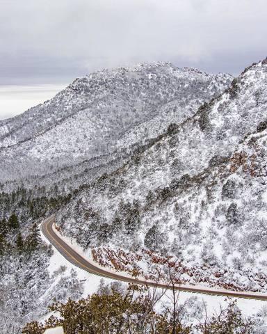 Snow fall in northern Arizona brings beautiful winter views
