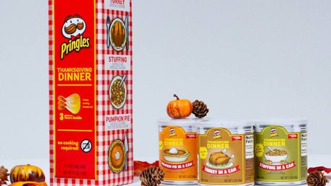 No cooking required: Pringles to sell Thanksgiving in a can with 3 flavors