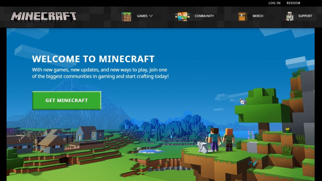 A screen shot of Minecraft, a popular game played online across multiple platforms
