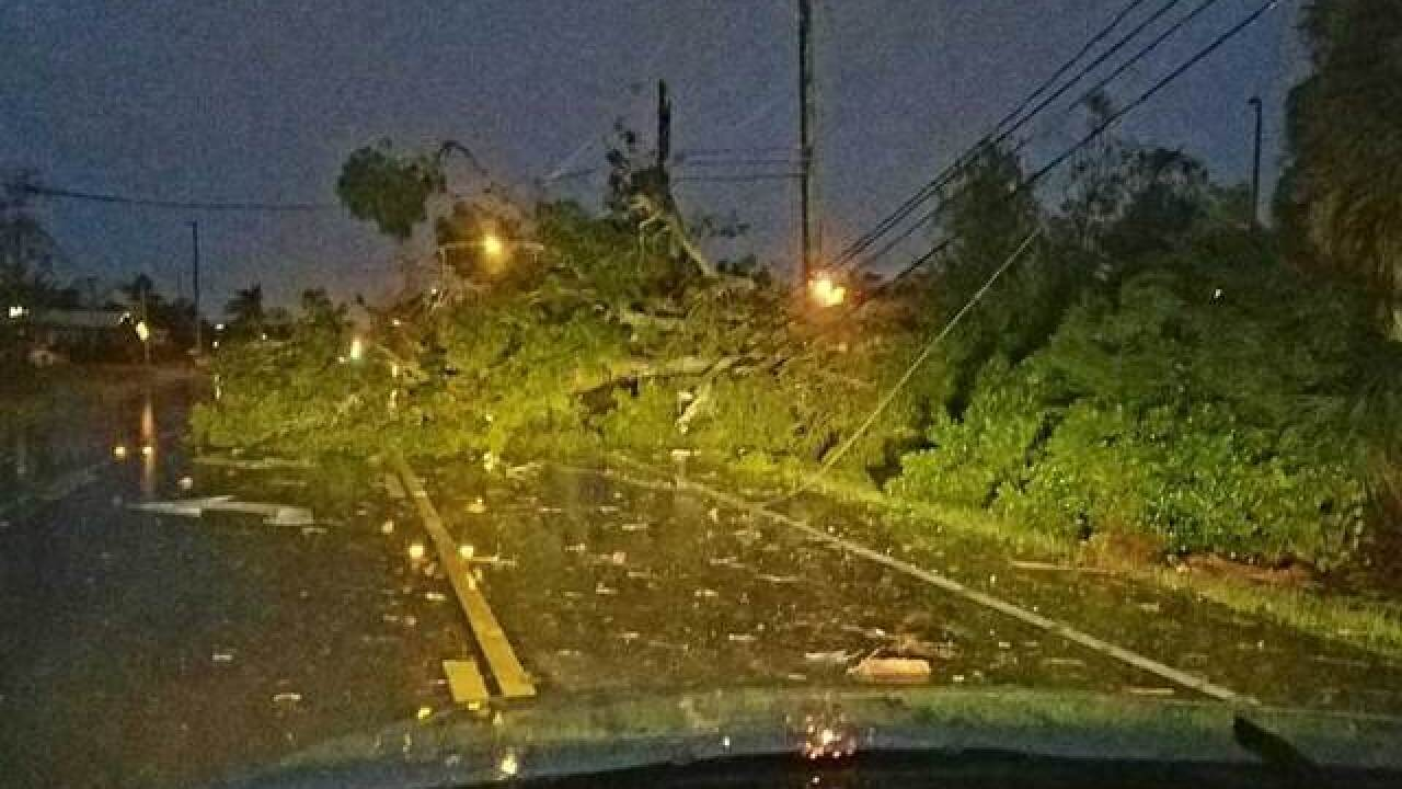 Debris litters roads; damage assessments begin