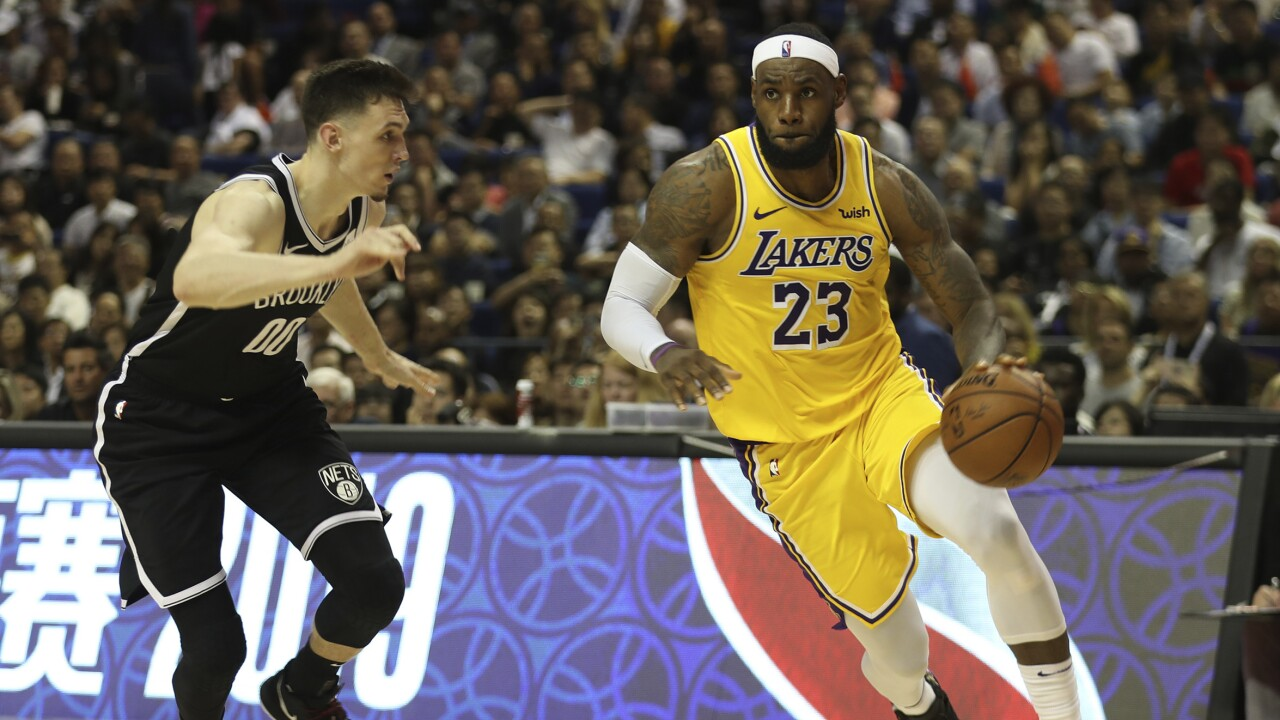 LeBron James NBA Los Angeles Lakers AP IMAGES