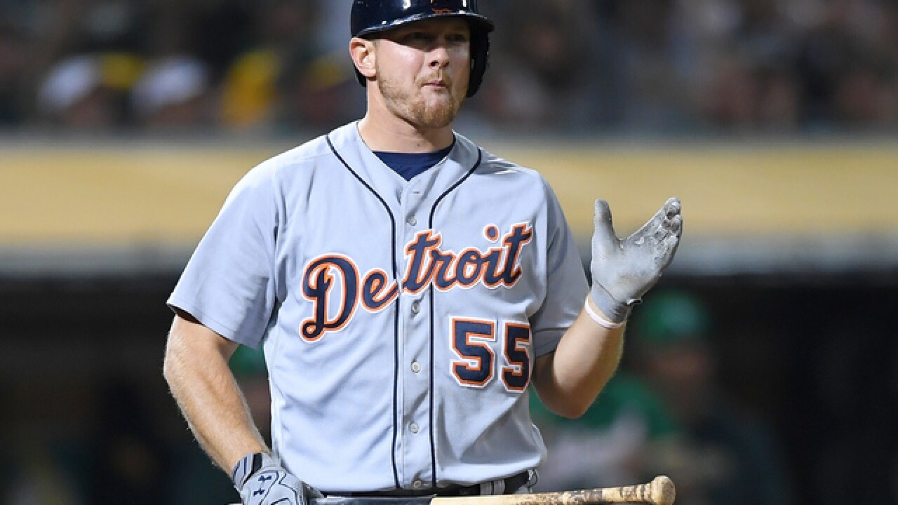Tigers lose to A's in 13 innings after Hardy loses no-hit bid in seventh