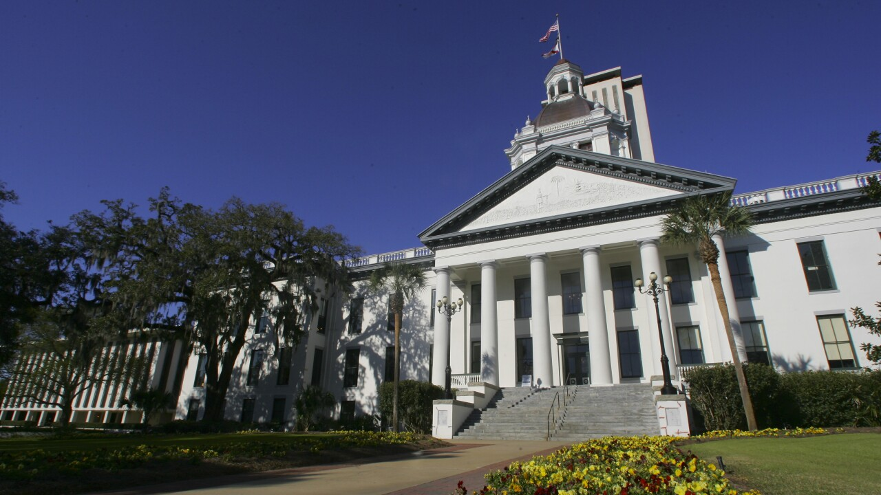 The Florida Capitol buildings in Tallahassee, Florida.
