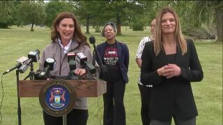 Governor Gretchen Whitmer Celebrating the Removal of Michigan COVID-19 Restrictions