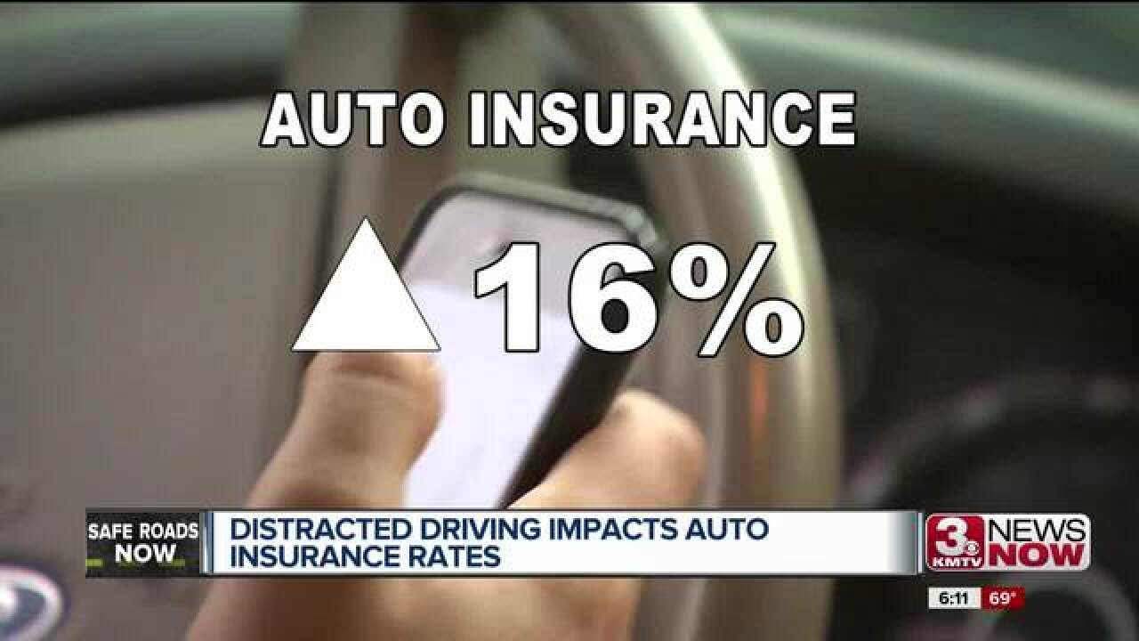 Distracted driving impacting insurance rates