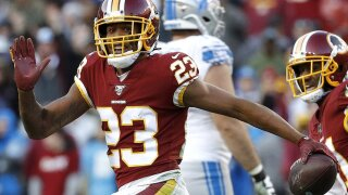 Washington Redskins cornerback Quinton Dunbar