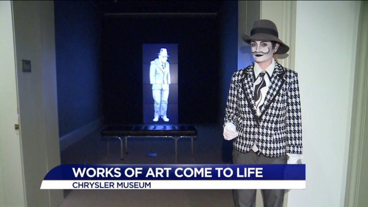 Works of art come to life for Halloween at the ChryslerMuseum