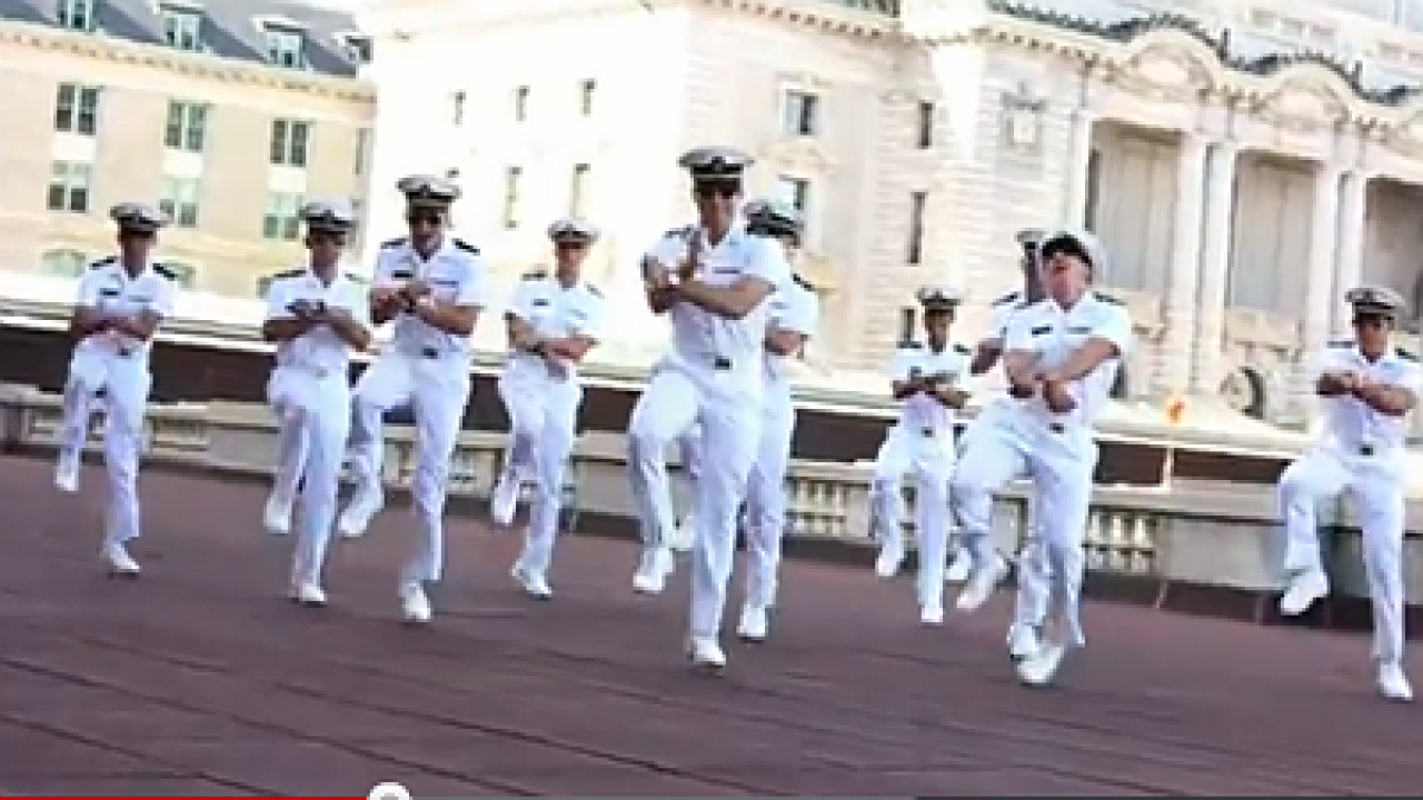 U.S. Naval Academy does 'Gangnam Style' tribute video