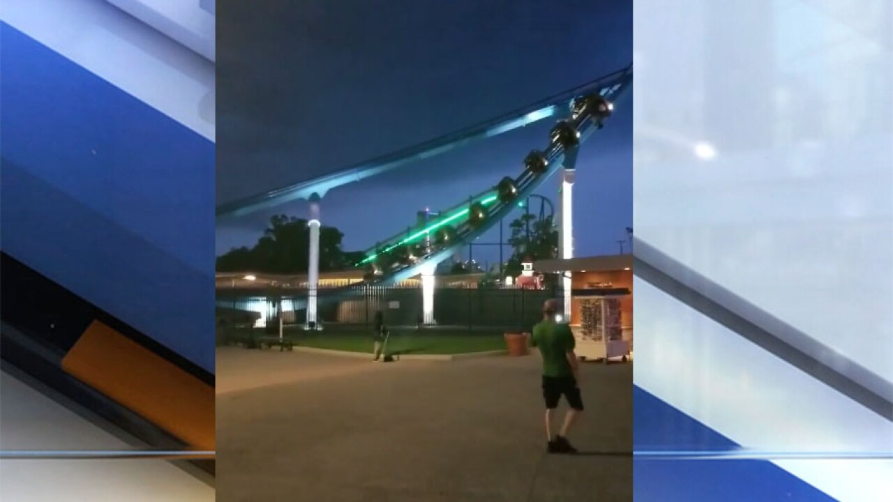 Video shows GateKeeper roller coaster getting stuck mid-ride at Cedar Point due to weather conditions