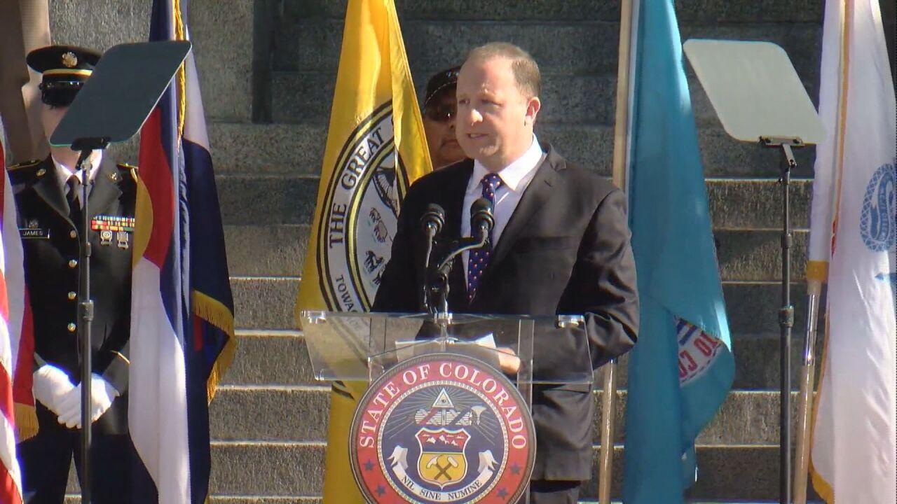 Governor Jared Polis at his inauguration