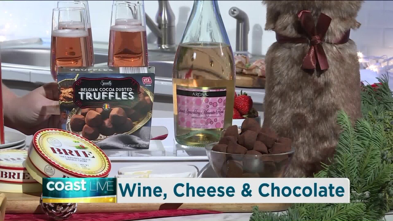 Creating perfect pairings for holiday wine, cheese and chocolate on CoastLive