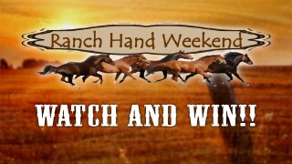 Logo for the Kingsville Ranch Hand Weekend Watch And Win contest.
