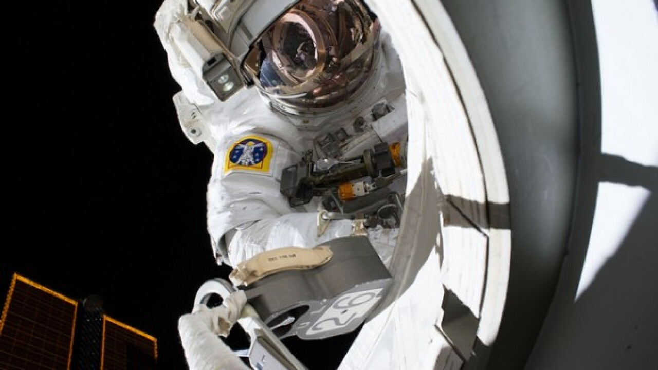 Two astronauts prepare for second live spacewalk from the International Space Station