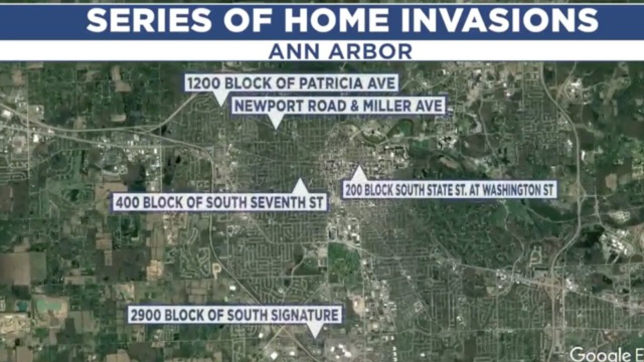 Ann Arbor police seeking info on suspect in home invasions, offer $500 reward