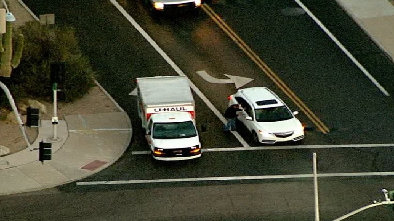 U-Haul chased through Valley, man shot by PD