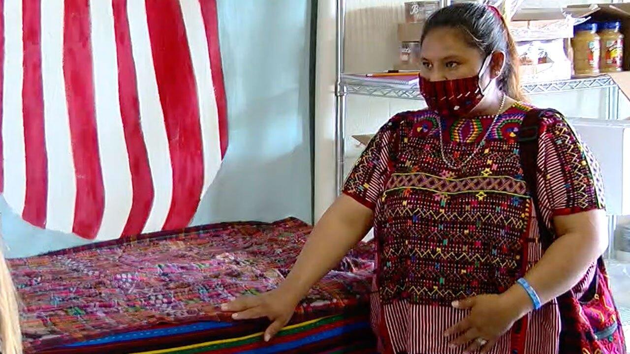 Maria Carolina, former farm worker who now creates facemasks
