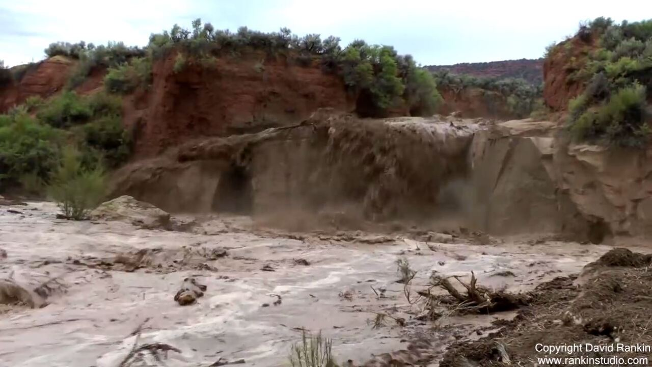 'Flash flood chaser' captures incredible footage after storms hit southern Utah