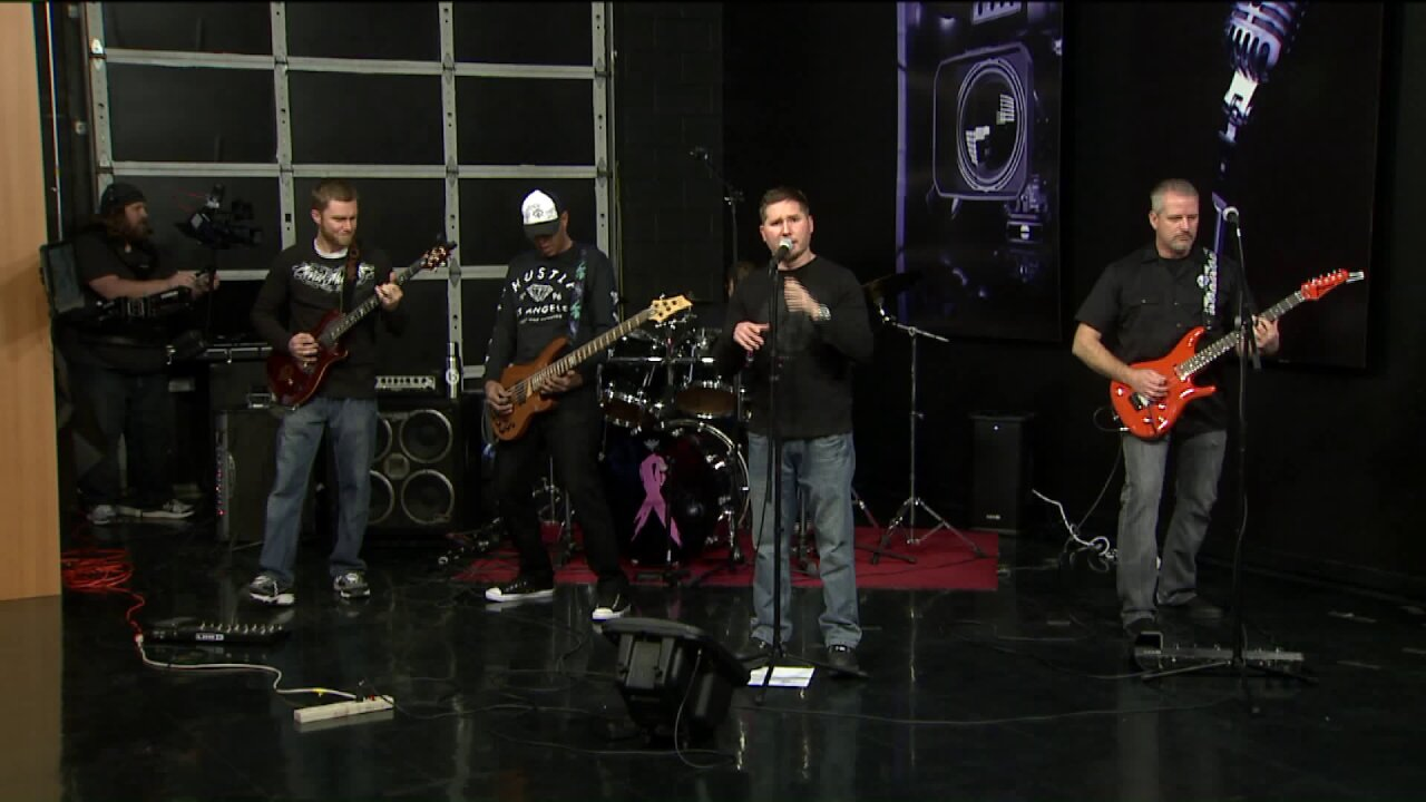 'Outside Infinity' plays the FOX13 studio