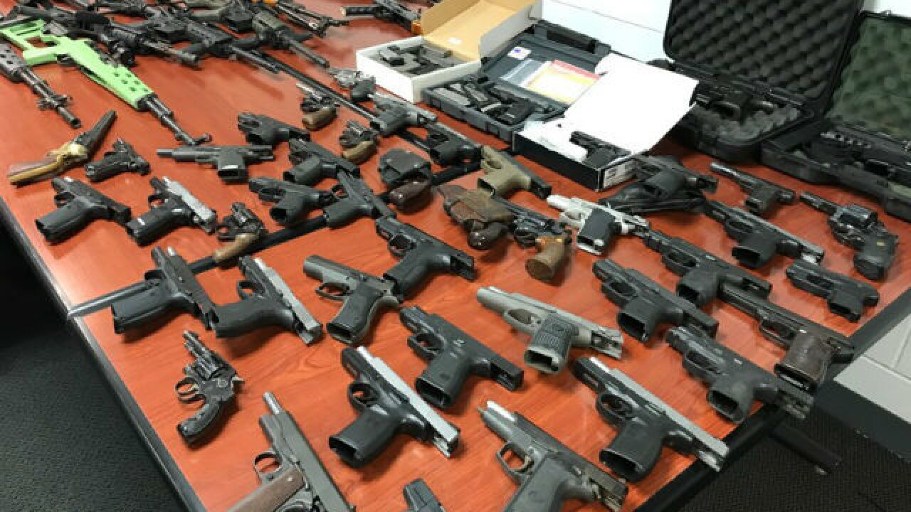 PD: 116 guns confiscated in drug-related bust