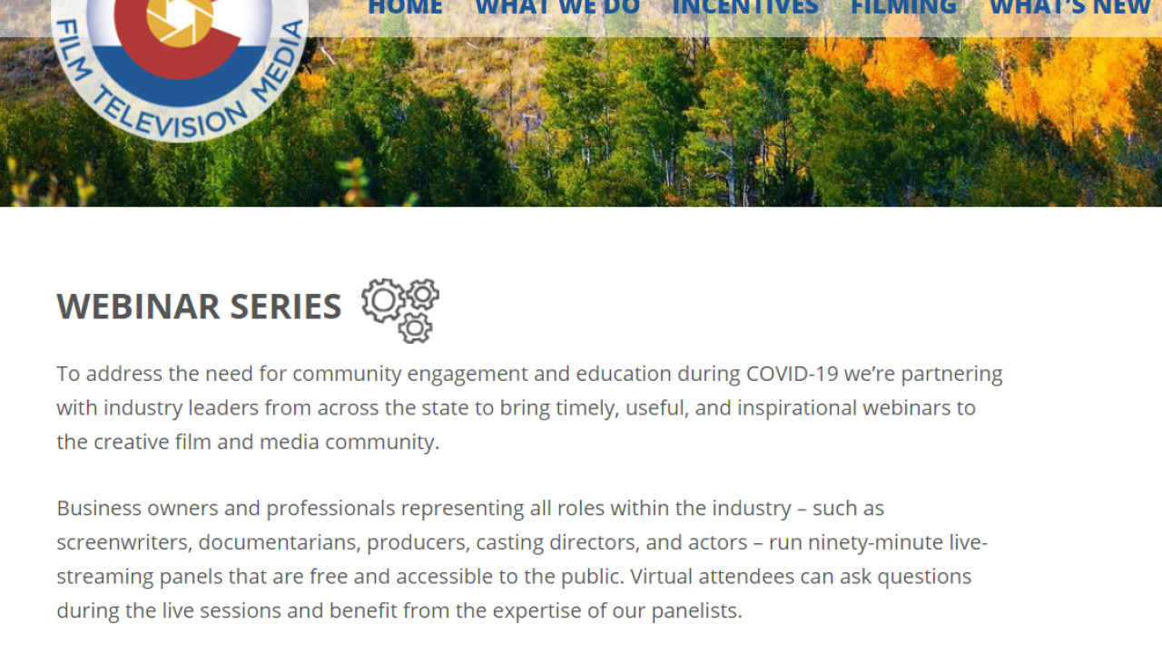 CO film industry offering free webinars
