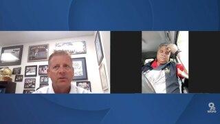 St. Xavier football coach Steve Specht and Lakota West athletic director Scott Kaufman