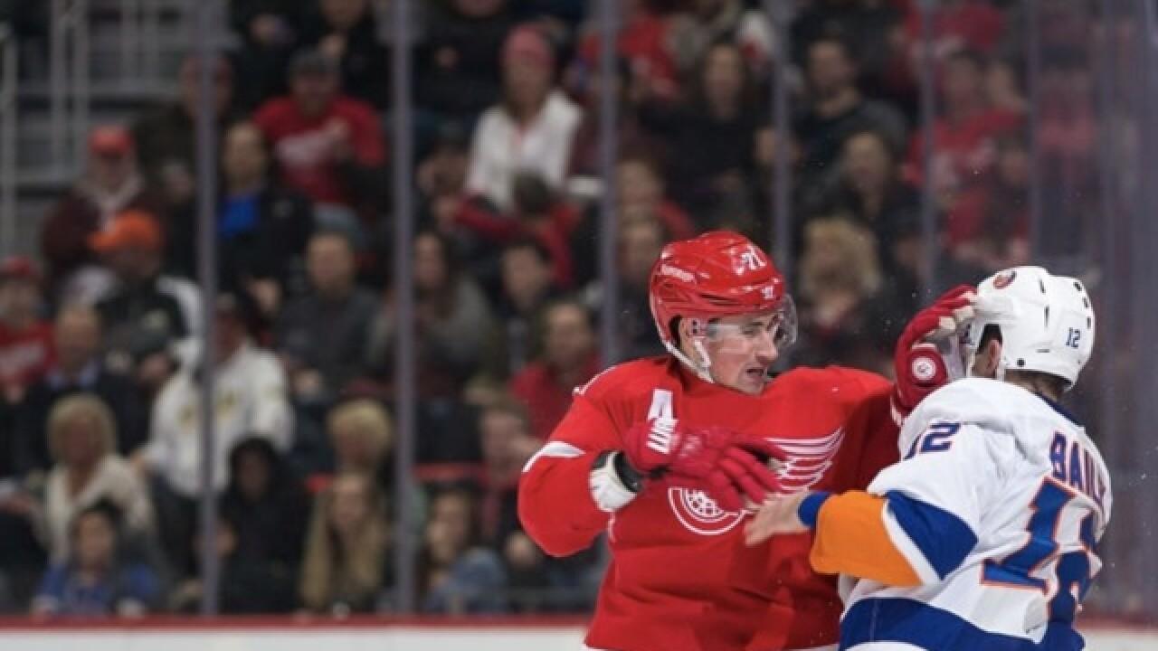 Larkin talks uptick in Red Wings fights