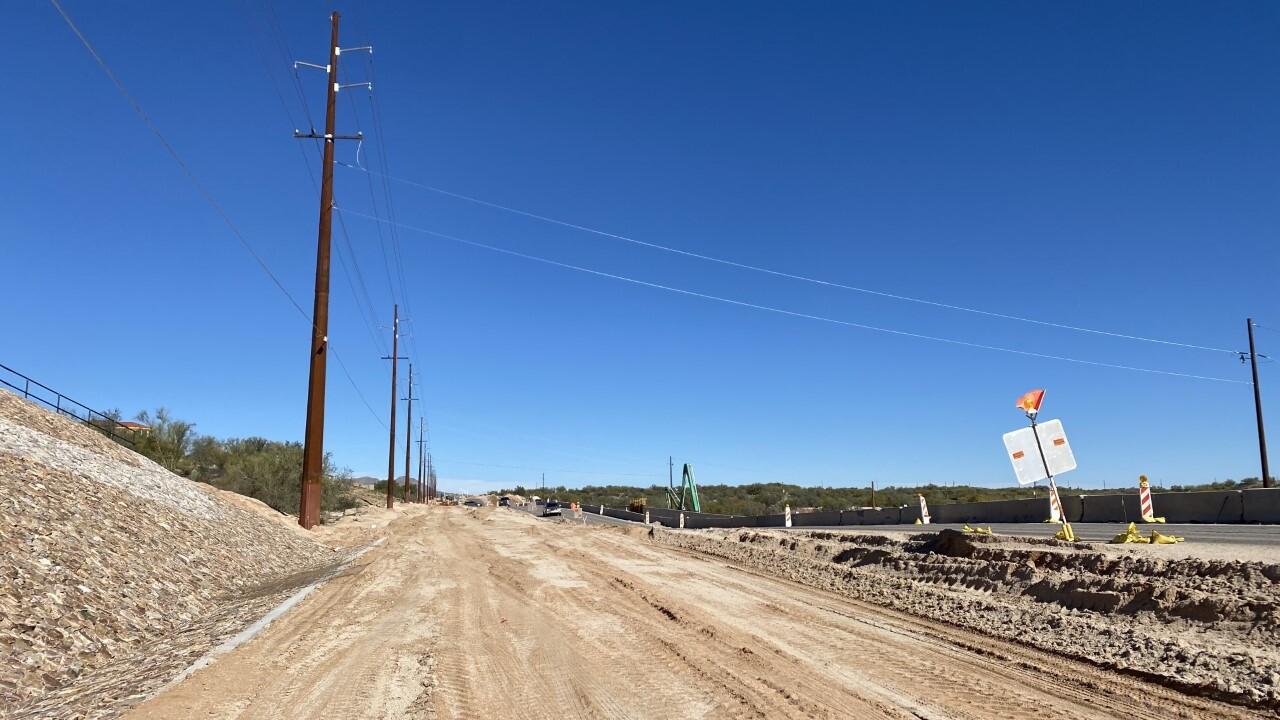 La Cholla Construction road closure
