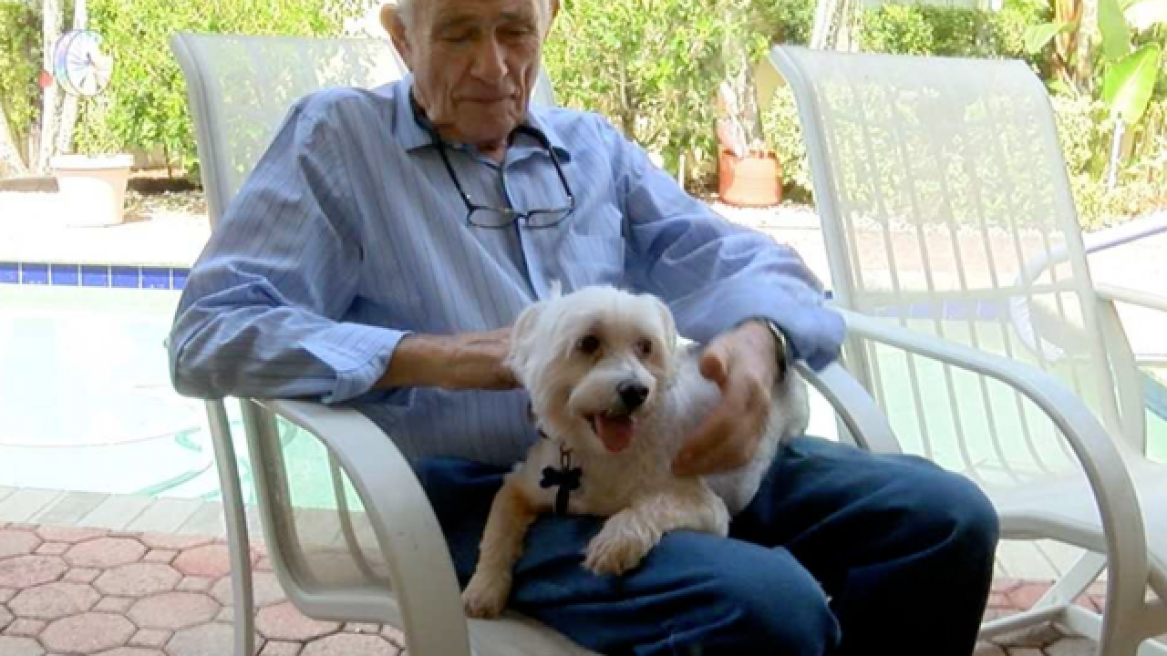 Buddy the dog credited with saving owner's life in Boynton Beach