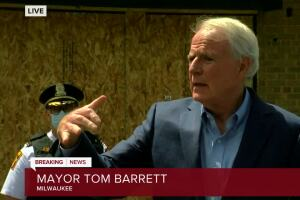 Barrett announces 9 p.m. curfew in Milwaukee after overnight violence