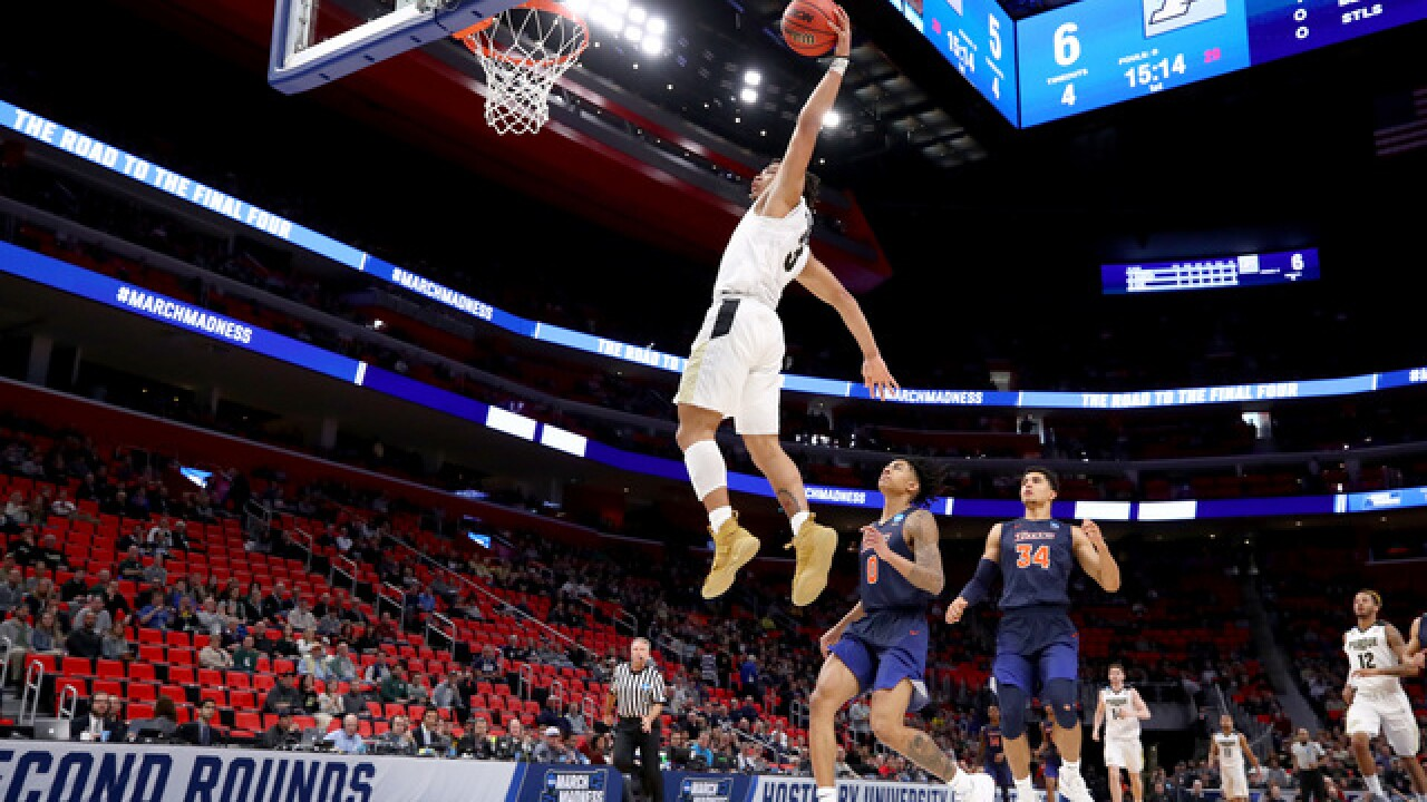Purdue beats Cal State Fullerton to advance in NCAA tourney, 74-48