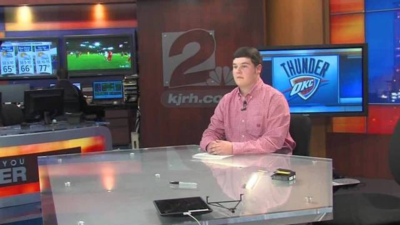 Sapulpa senior surpised during KJRH studio visit