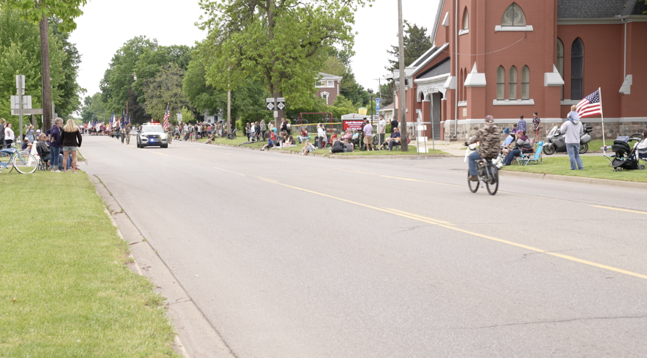 Motor bike before the parade