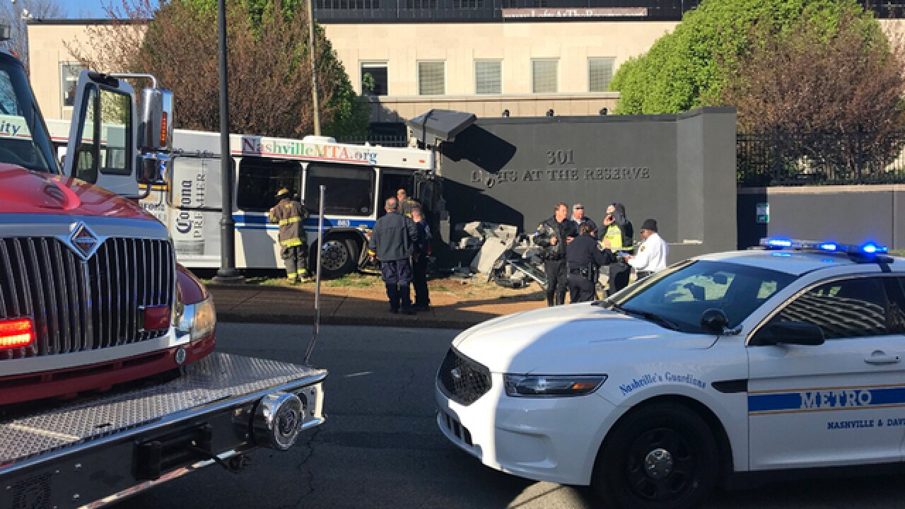 Injuries Reported In Nashville MTA Bus Crash