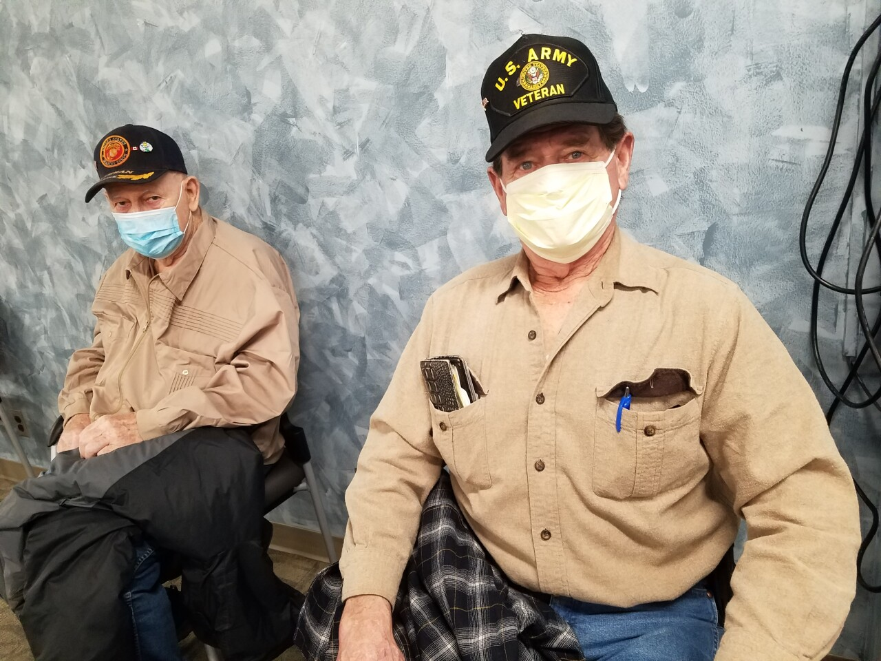 Veterans Duane Bakken(right) and Buzz Beto(left)