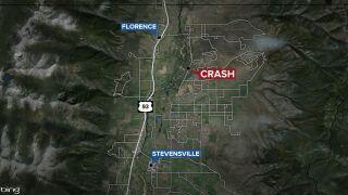 1 person dead, 4 injured in Ravalli County crash