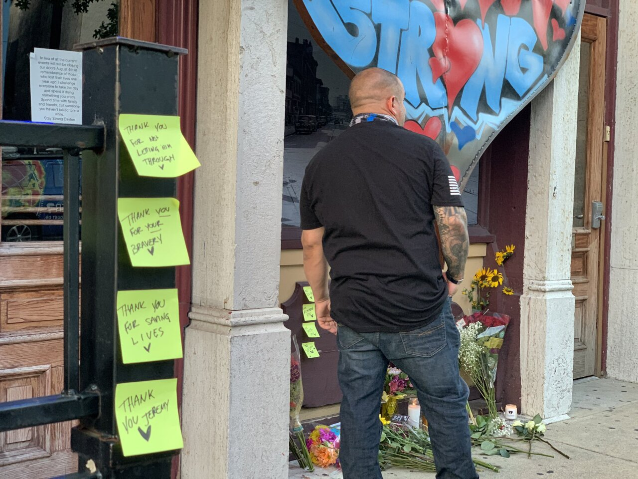 Post-it messages Dayton shooting one year later.jpg