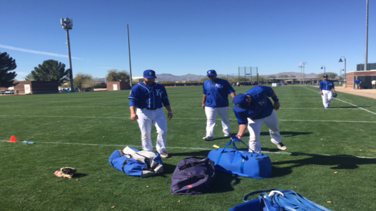 PHOTOS: Royals gear up for spring training-day 2