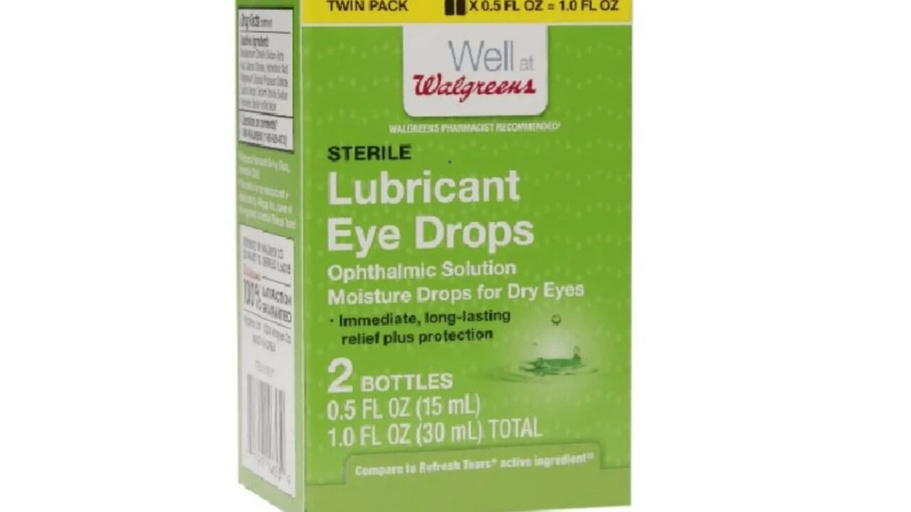 Eye drops, ointment sold at Walgreens and Walmart recalled because they may not be sterile