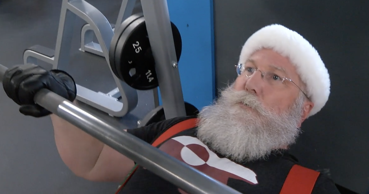 Denver Santa spends his offseason in the gym