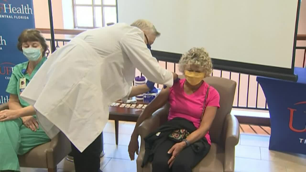 Senior citizen of The Villages becomes first to receive COVID-19 vaccine