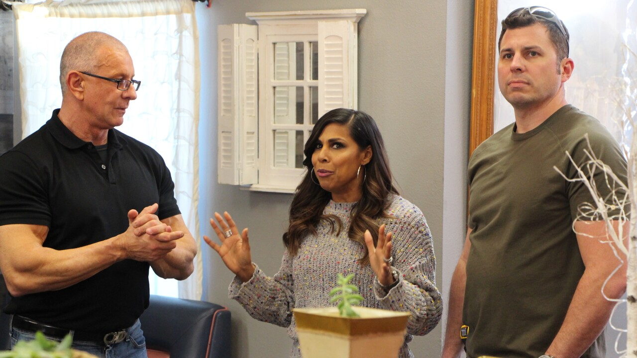 Robert and Tom listen as Taniya shares her thoughs, as seen on Restaurant Impossible Incredible Cafe.jpeg
