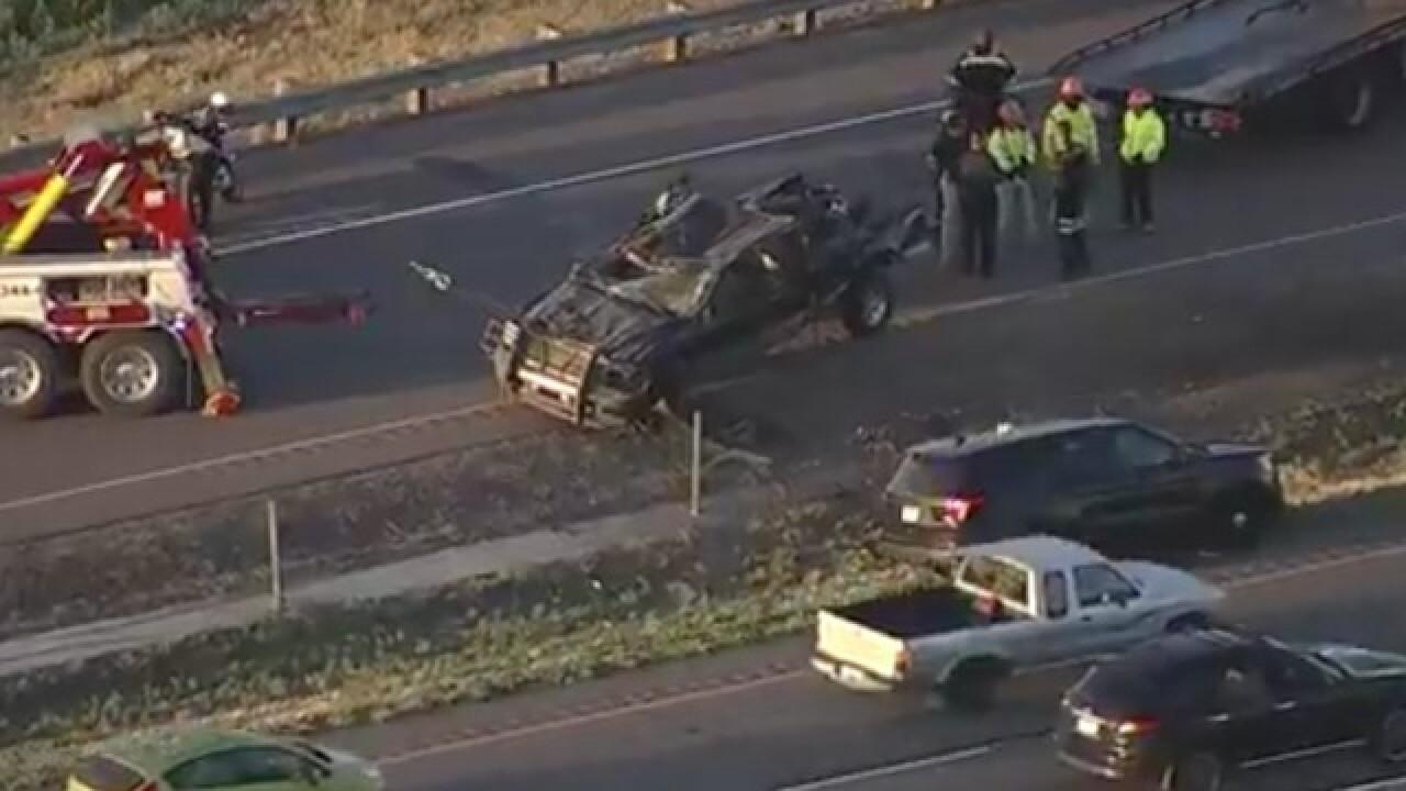 One killed in early morning single-vehicle crash on I-76