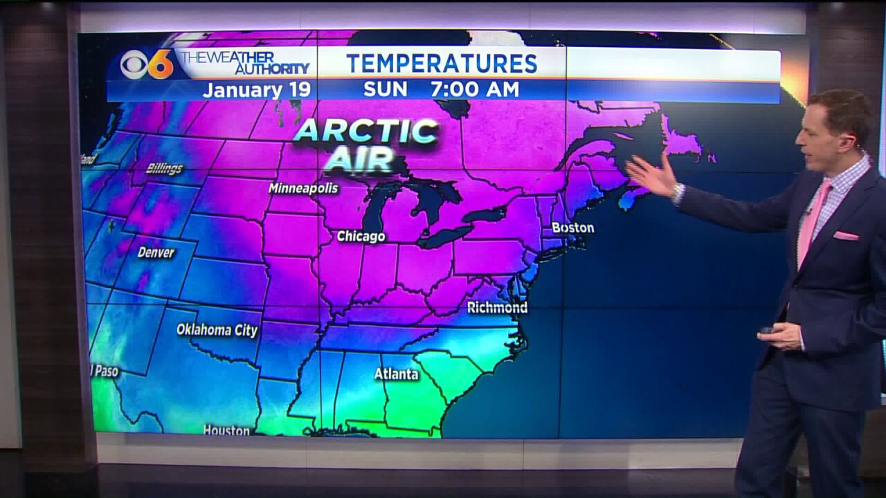 Coldest temps in almost a year arrive; when outlying areas could see lows dip to10-15°
