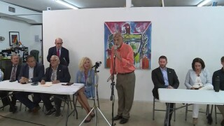 Palm Beach County leaders and community members speak at a news conference on July 15, 2021 about the crisis in Cuba.jpg