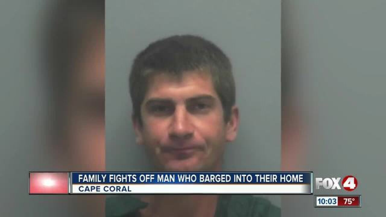 Intoxicated man tried to grab woman in her home