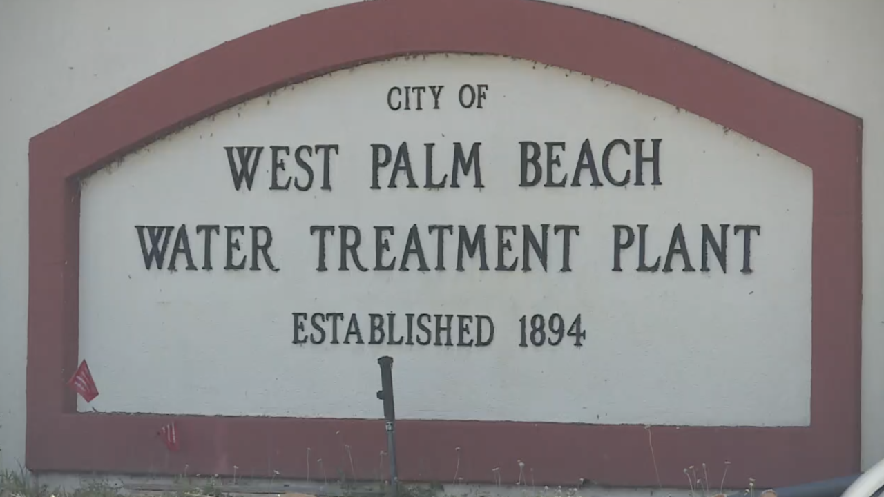 'City of West Palm Beach Water Treatment Plant Established 1894' sign