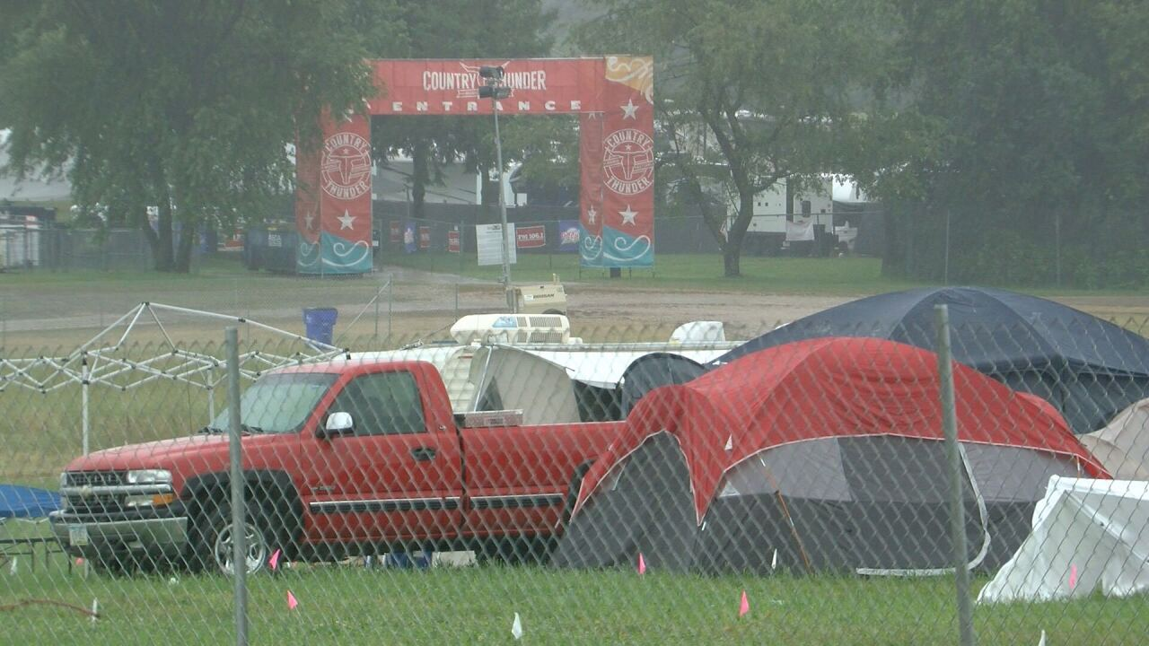 Campers at Country Thunder on Thursday