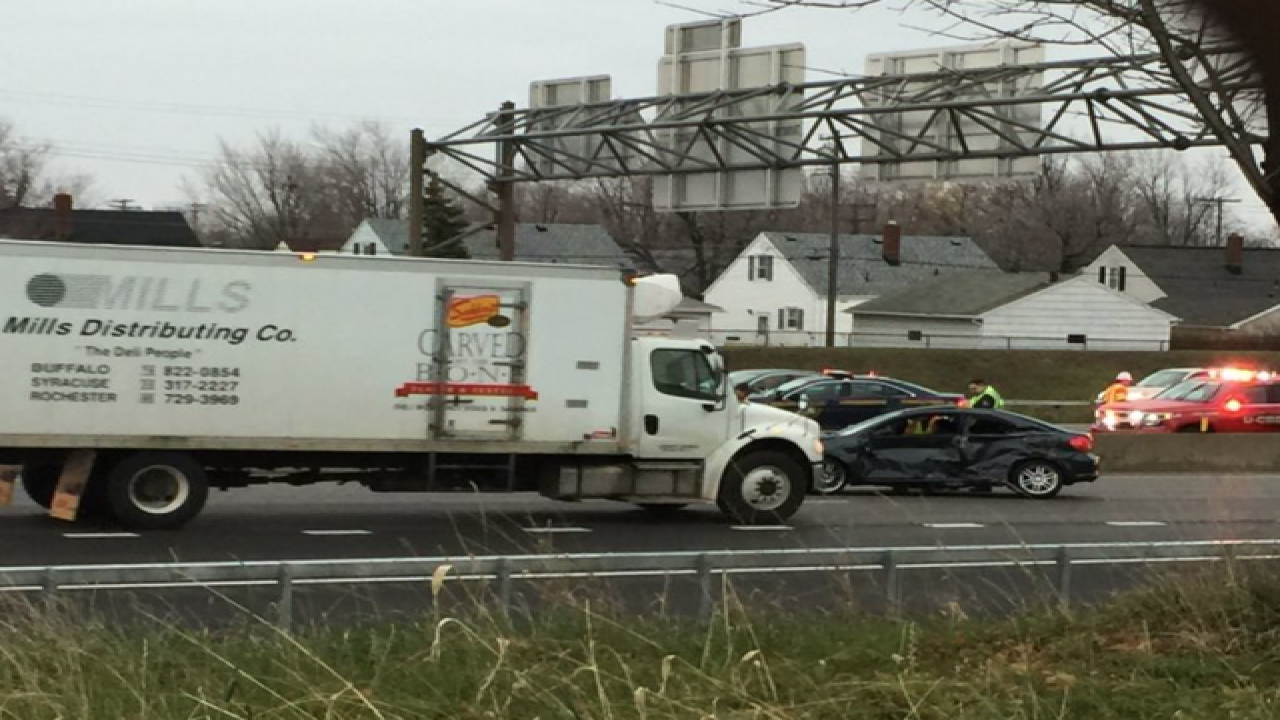 I-90 down to one lane by Rt 33 after fatal crash